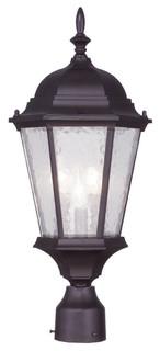 Hamilton Outdoor Post Lantern, Bronze