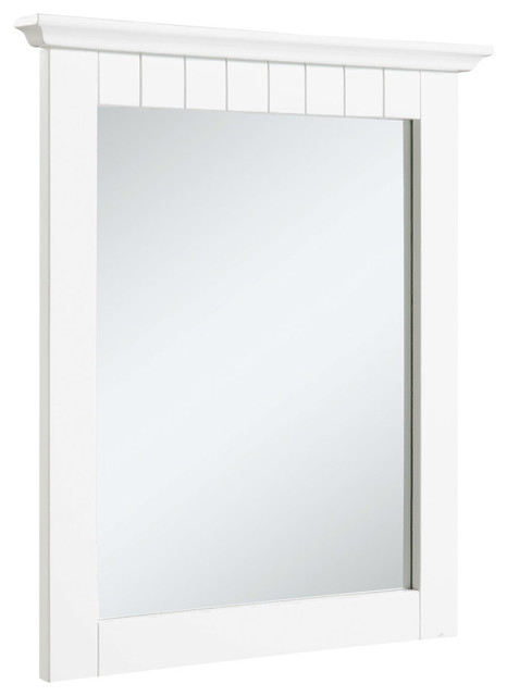 Traditional Bathroom Mirrors cottage mirror, white - traditional - bathroom mirrors -design