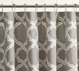Kendra Trellis Shower Curtain Brownstone Traditional