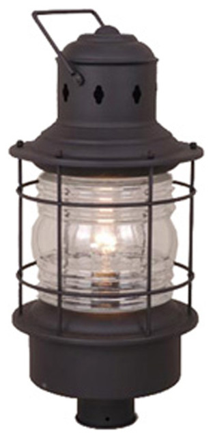 "Hyannis 10"" Outdoor Post Light, Textured Black."