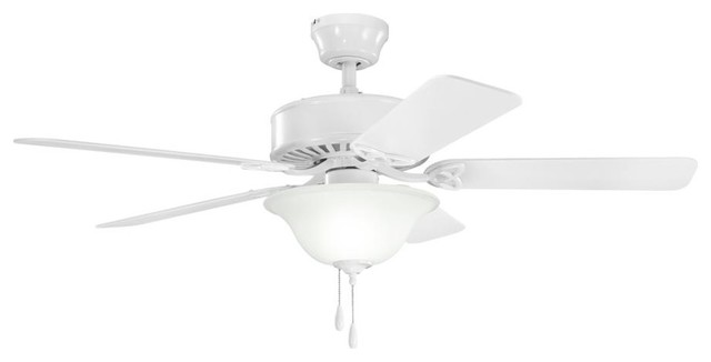 Three Light White Ceiling Fan