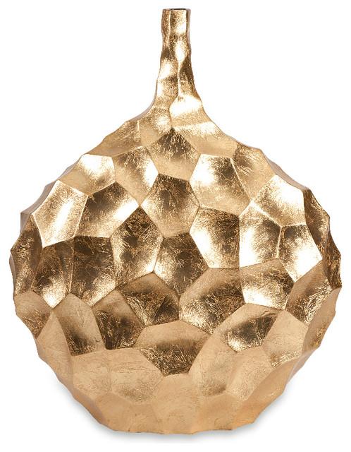Valerie Short Vase Gold