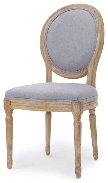 Hawthorne Fabric Dining Chairs, Light Gray, Set Of 2.