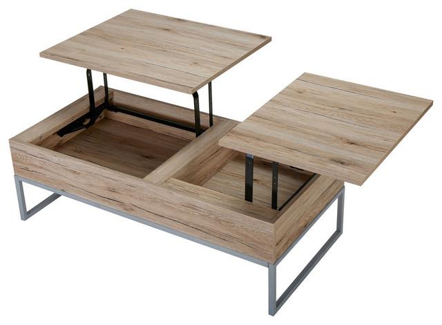 Gdf Studio Cerise Lift Top Storage Coffee Table Sandy Brown