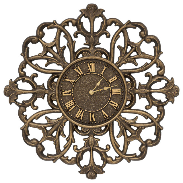 filigree silhouette 21 indoor outdoor wall clock