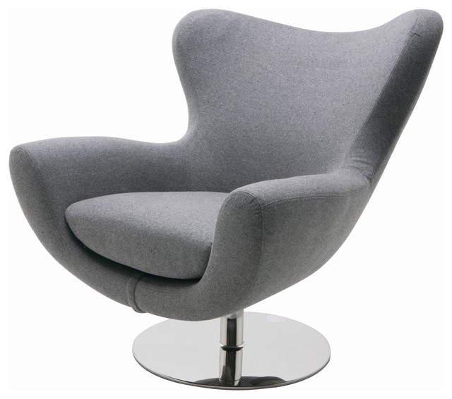 Conner Modern Lounge Chair By Nuevo Living, Light Grey Modern Armchairs And