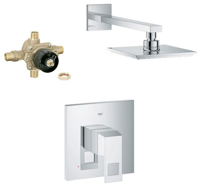 grohe eurocube shower combination with roughin