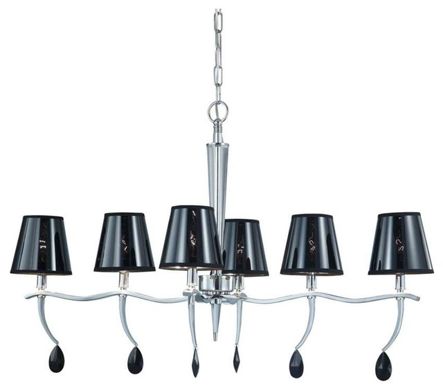 Nuvo Grace 6-Light Island Pendant With Black Shade