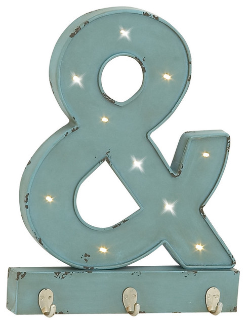 ampersand wood led wall hook modern wall hooks by brimfield
