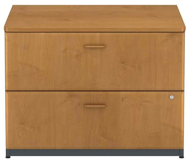 Lateral Filing Cabinet in Cherry Colored, Series A traditional-filing ...