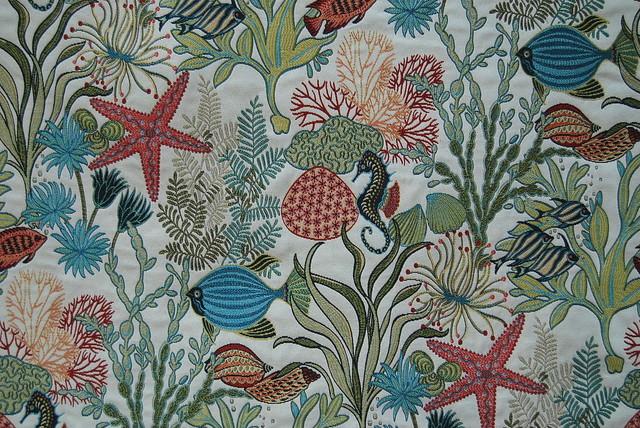 Holy Mackerel Aqua Fabric
