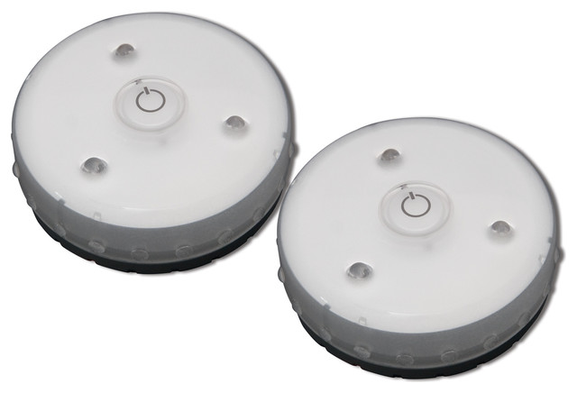 Rite Lite Wireless Led Micro Puck Light 2 Pack Contemporary