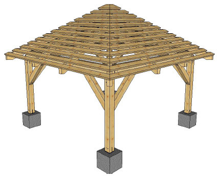 Pergolas hip roof pergola rustic tampa by Gazebo roof pitch