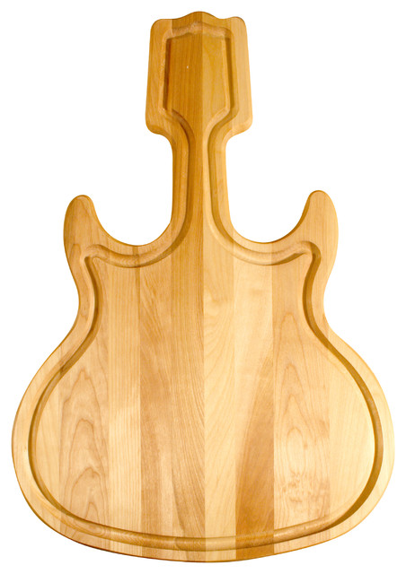 catskill craftsmen guitar shaped hardwood cutting board craftsman
