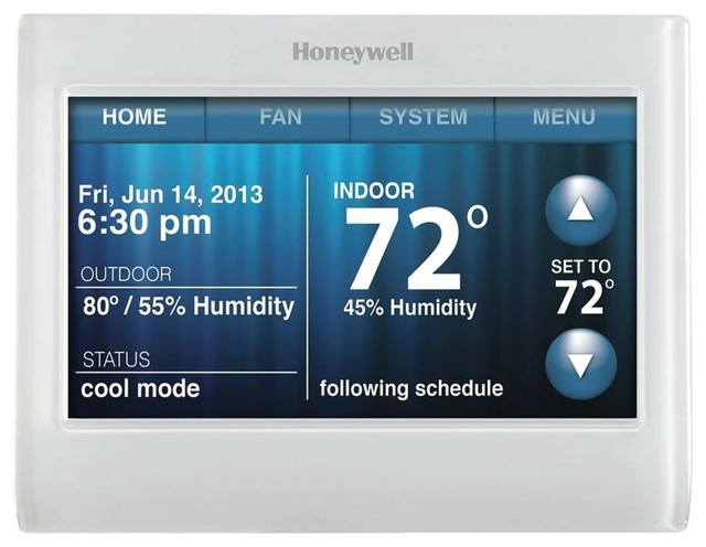 Honeywell Wifi 9000 Color Touchscreen Thermostat.