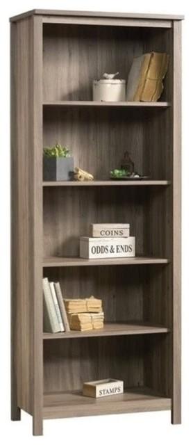 Pemberly Row 5 Shelf Bookcase Salt Oak Bookcases
