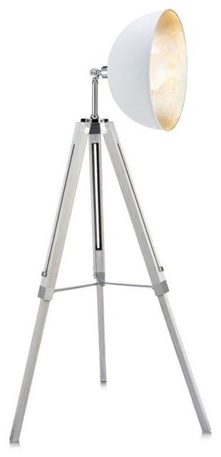 Versanora Fascino Tripod Floor Lamp, White.