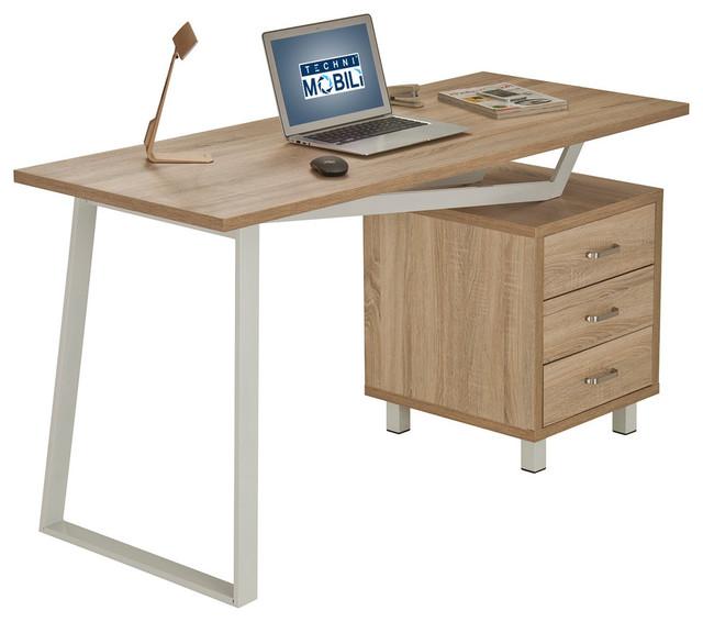 Techni Mobili Modern Design Computer Desk With Storage, Sand ...