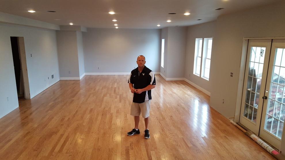 Basement Glue Down Floor Complete