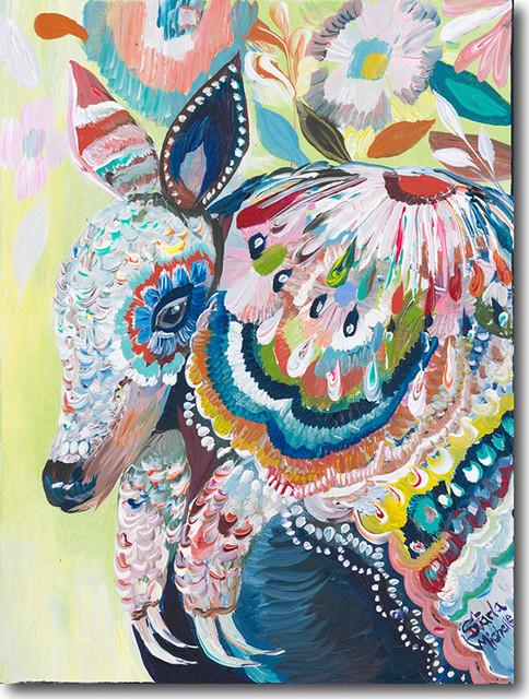 """a For Armadillo"" Artwork By Starla Michelle Halfmann, 30""x40""."