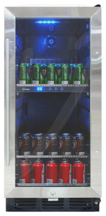 Vt-32 Beverage Cooler With Interior Display.