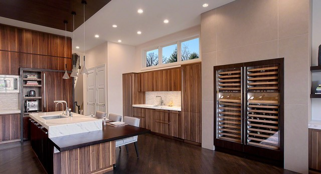 lincoln park brownstone modern kitchen - Custom Kitchen Cabinets Chicago