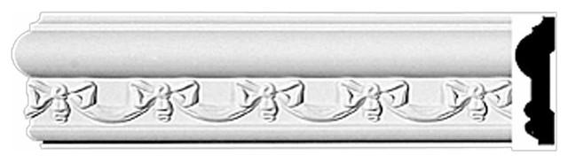 Crown Molding White Urethane Kenton Ornate Design 5 Pieces