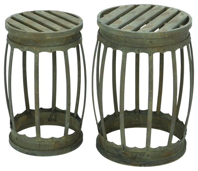 metal stool 2piece set