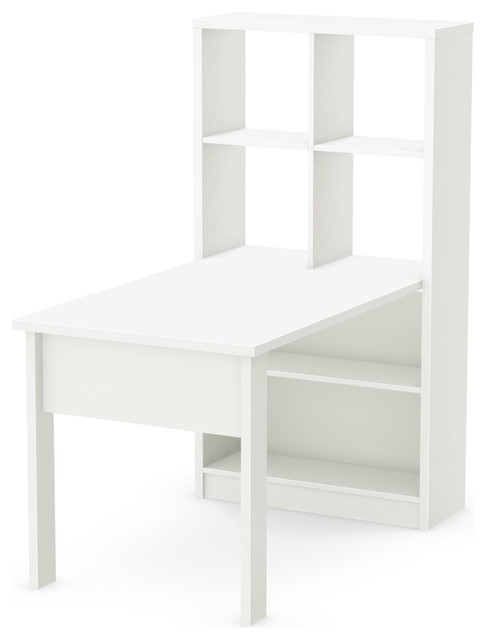 South Shore Annexe Craft Table And Storage Unit Combo, Pure White
