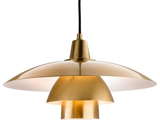 Olsen Pendant Light, Brushed Brass