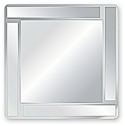 Frameless Wall Mirror square bevel overlay trim decorative frameless wall mirror the