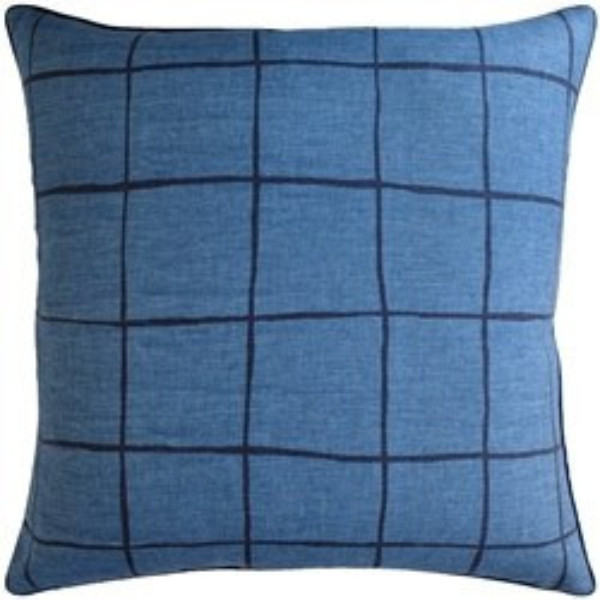 Coquette Blue And Navy Pillow.