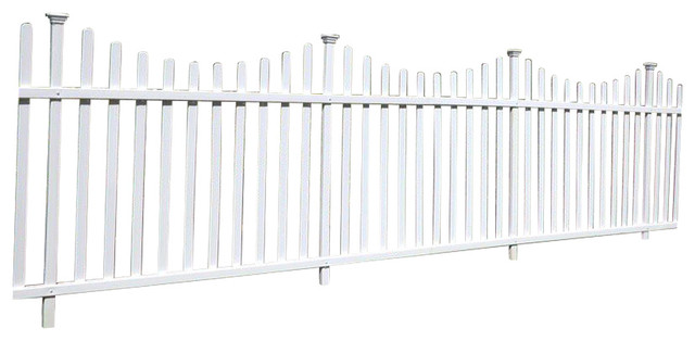 Manchester Semi Permanet Vinyl Picket Fence Kit With Posts
