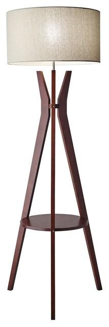 Bedford Shelf Floor Lamp, Oatmeal.