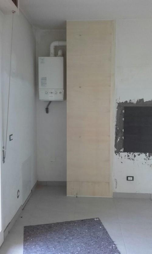 Aiuto posa rivestimento cucina su legno