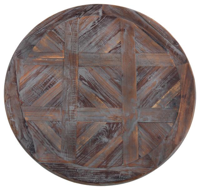 Junee Antique Gray Round Wooden Wall Art