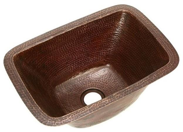 "17"" Rectangle Copper Bar Sink, Rio Grande."