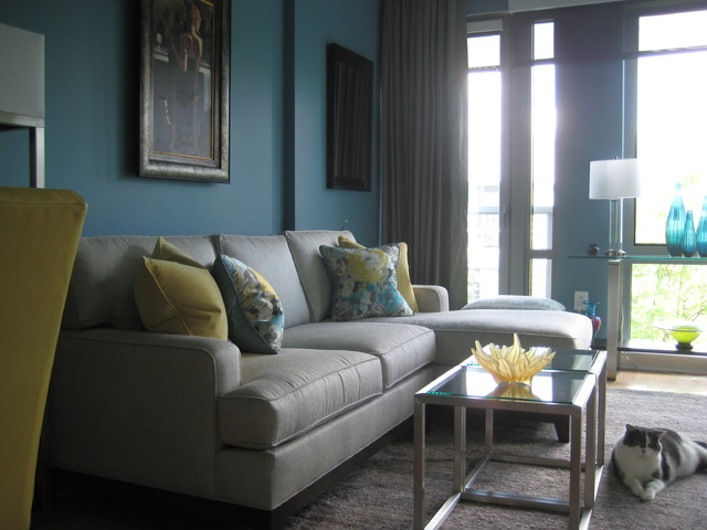 Turquoise And Yellow Living Room Modern Living Room Part 94