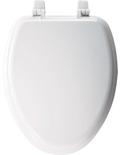 STA-TITE Seat Mayfair 144CP 000 Molded Wood Toilet Seat with Chrome Hinges