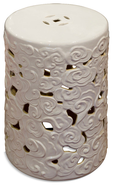 Porcelain Garden Stool Asian Accent And Garden Stools