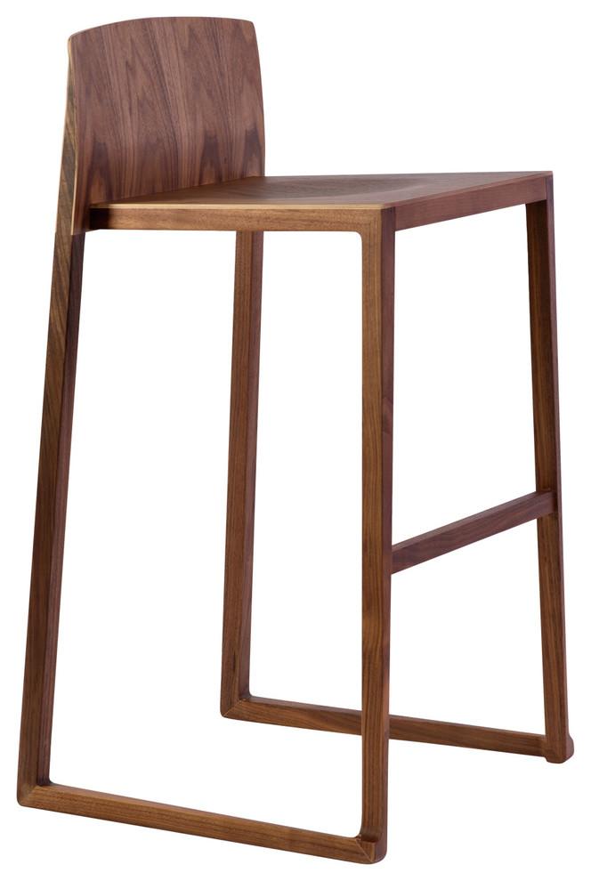 Cool Hanna Bar Stool 29 Seat Height Walnut Uwap Interior Chair Design Uwaporg