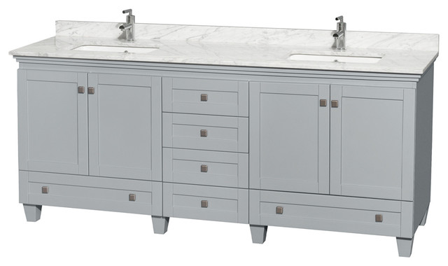 80 double sink bathroom vanity acclaim 80 quot vanity in oyster gray white 21883