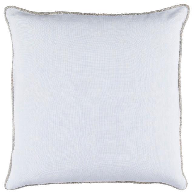 Big Square Decorative Pillows : Surya Sasha Linen Medium Square Pillow, 5
