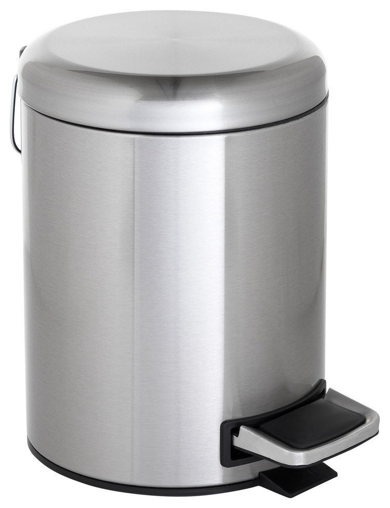 ToiletTree Products Stainless Steel Trash Can with Dome Lid, 5 Liter
