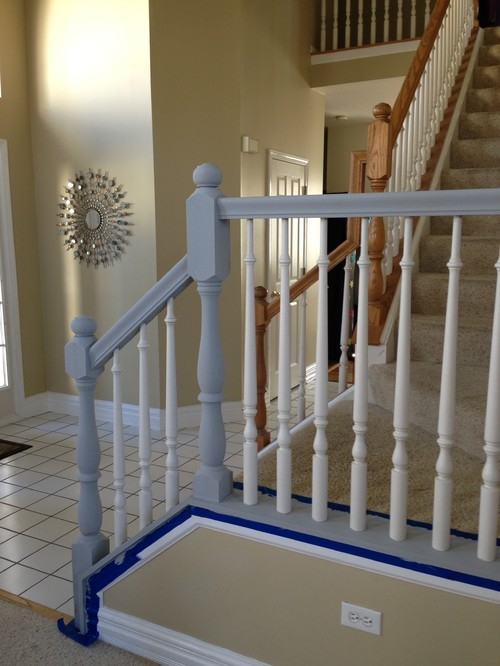 What color for bottom of banister? White or black to match what we ...
