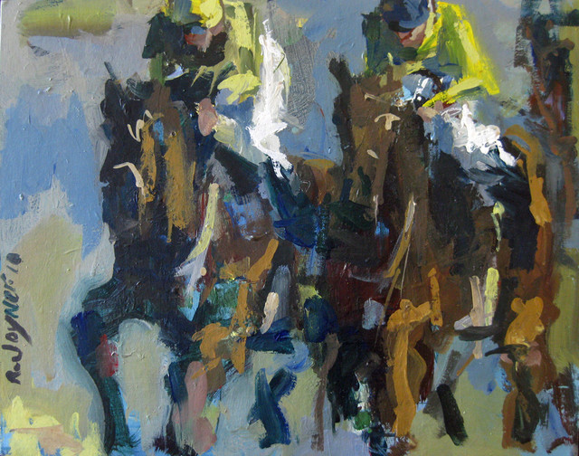 Horse Racing Painting on Canvas