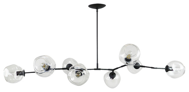 Modern artifax branching bubble chandelier organic clear deformed bubble glass chandeliers