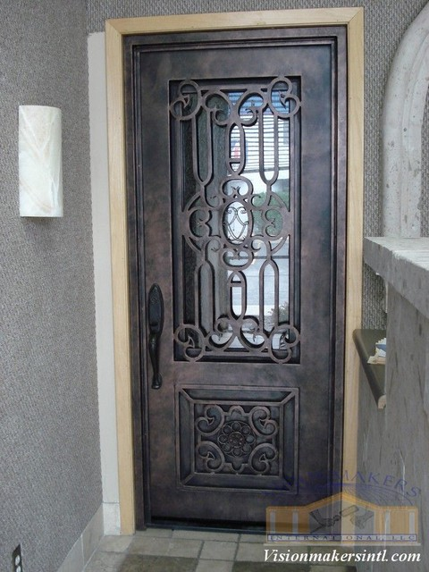 Wrought iron doors phoenix by visionmakers custom stone amp iron