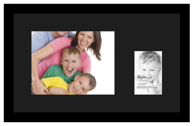 ArtToFrames Collage Photo Frame  with 1 - 4x6, 8.5x11 Openings