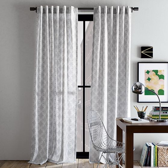 Cotton Canvas Faux Bead Window Panel Contemporary Curtains By West Elm
